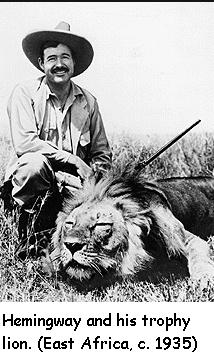 hemingway lion